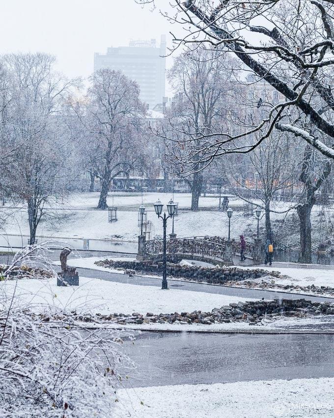 Bastejkalna Park in the winter
