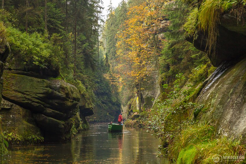 Boat rides along the Kamenice River, Bohemian Switzerland, Czech