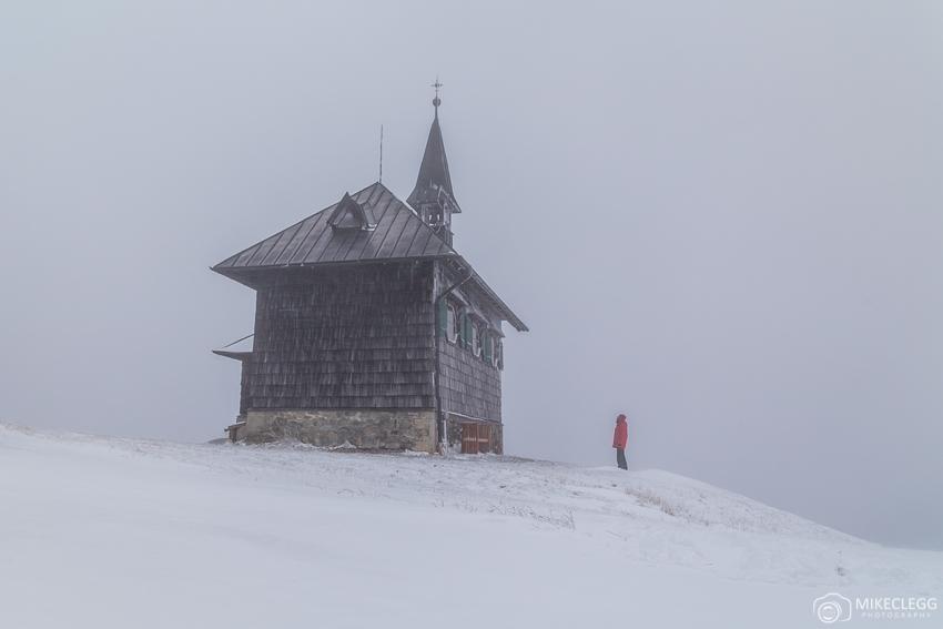 Church up Schmittenhöhe with snow