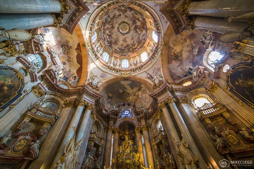 Interior of St Nicholas Church, mala Strana, Prague