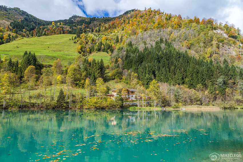 Lake Klammsee in Kaprun in the autumn