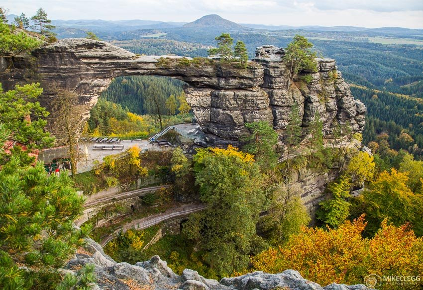 "Pravcicka Gate, Bohemian Switzerland"" width=""850"" height=""583"" srcset=""https://www.travelanddestinations.com/wp-content/uploads/2017/10/Pravcicka-Gate-Bohemian-Switzerland.jpg 850w, https://www.travelanddestinations.com/wp-content/uploads/2017/10/Pravcicka-Gate-Bohemian-Switzerland-300x206.jpg 300w, https://www.travelanddestinations.com/wp-content/uploads/2017/10/Pravcicka-Gate-Bohemian-Switzerland-768x527.jpg 768w"" sizes=""(max-width: 850px) 100vw, 850px"