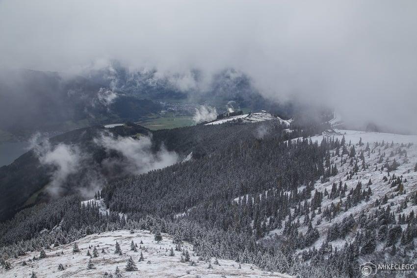 Snowy scenes from Schmittenhöhe