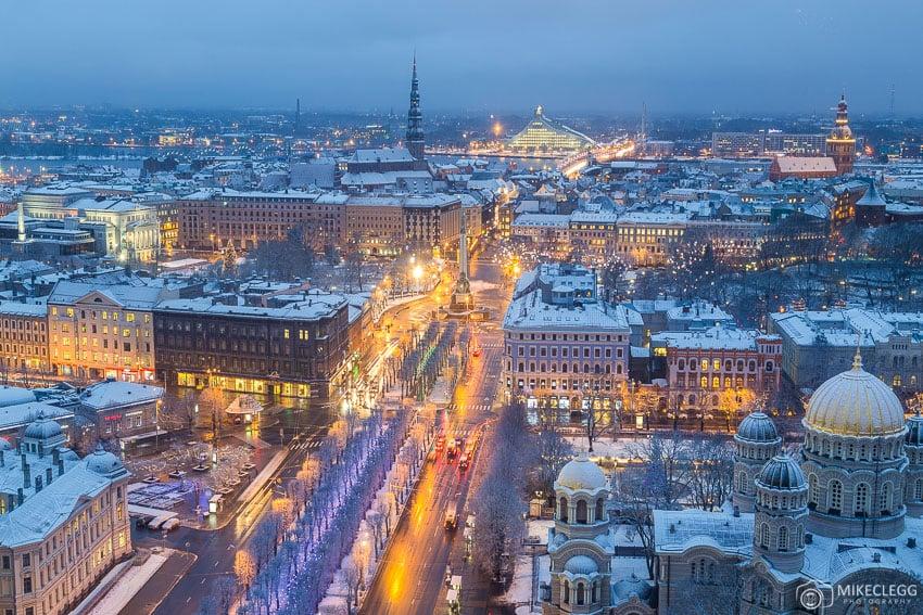 View from Skyline Bar Riga