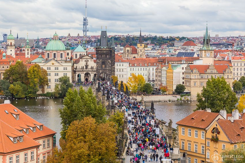 View in the Autumn from Malá Strana Tower, Prague