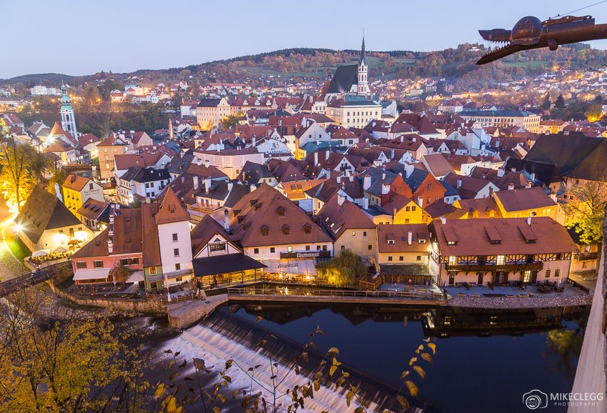 View of Cesky Krumlov from near the State Castle and Chateau