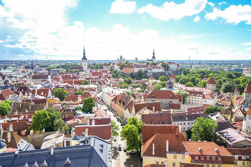 View of Tallinn from Olafs Church via Pixabay-2112816_1280
