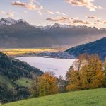 Views of Lake Zell, Austria at Sunset
