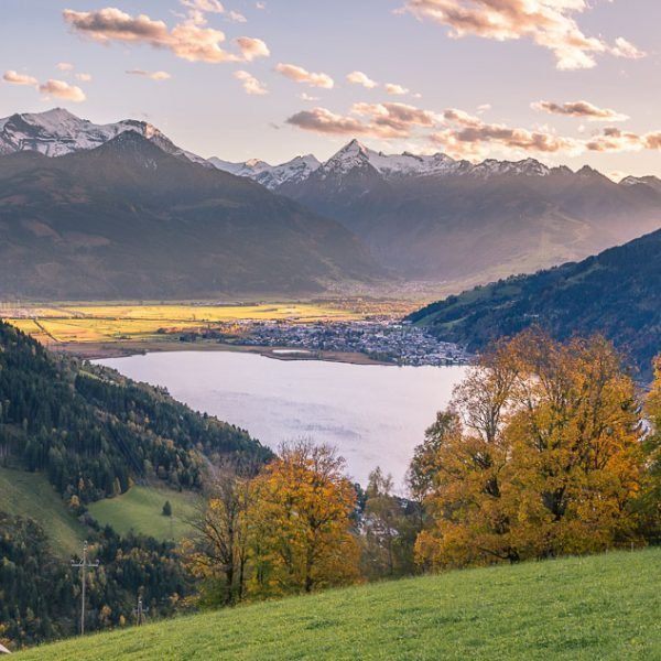 Views of Lake Zell, Austria at Sunset