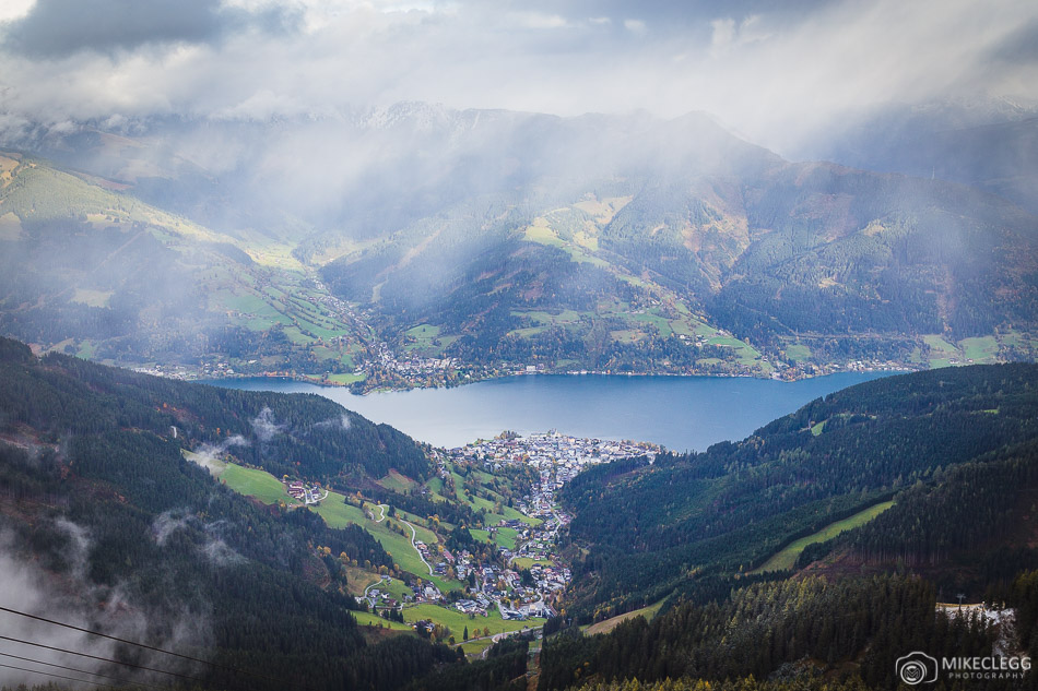Views of Lake Zell from Schmittenhöhe