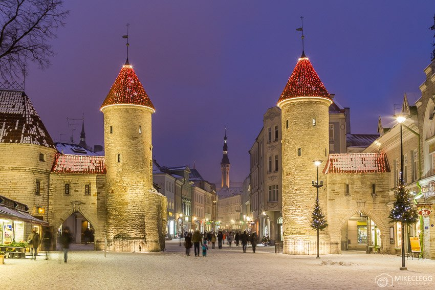 Viru Street, Tallinn at Christmas