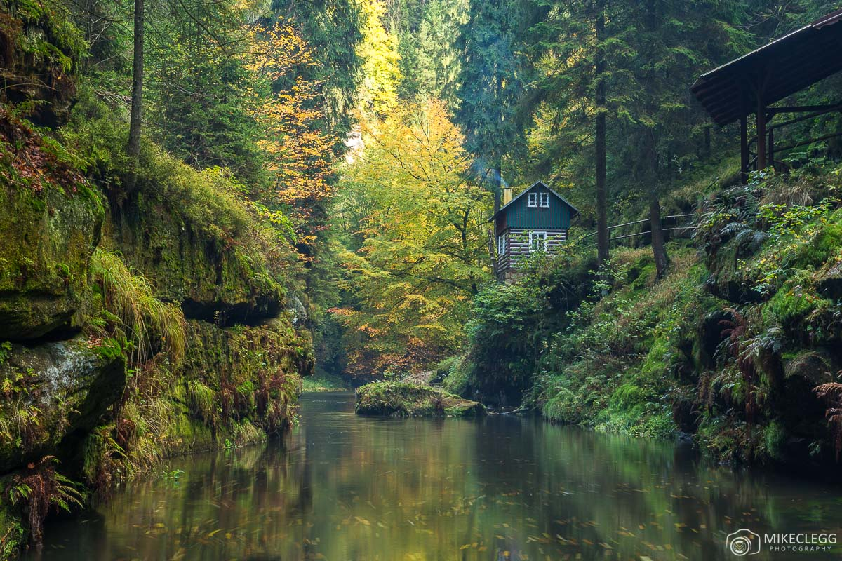 Edmund Gorge in the Fall, Bohemian Switzerland