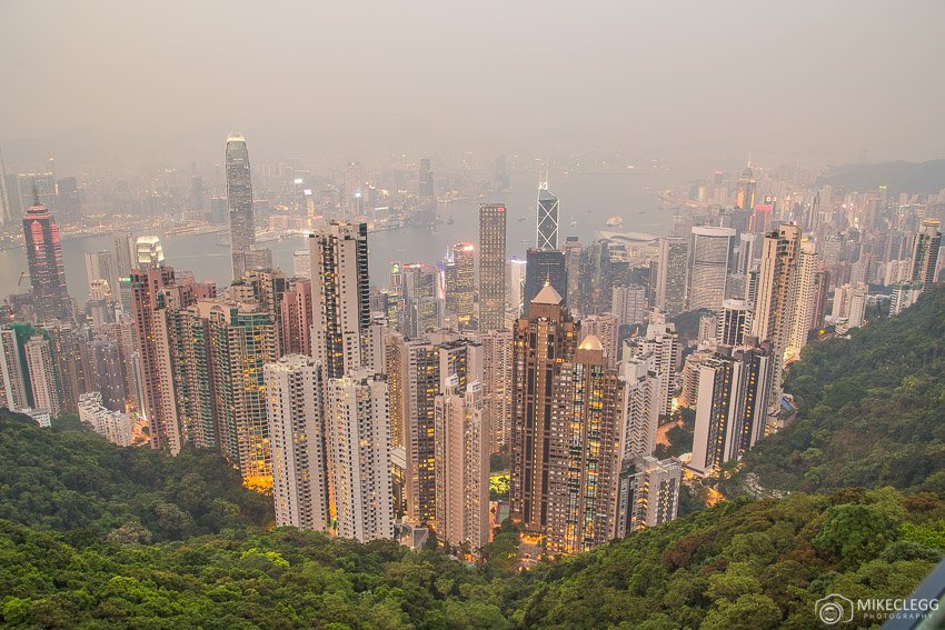 Hong Kong Skyline during the day from the peak