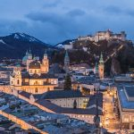 Salzburg Skyline during the blue hour