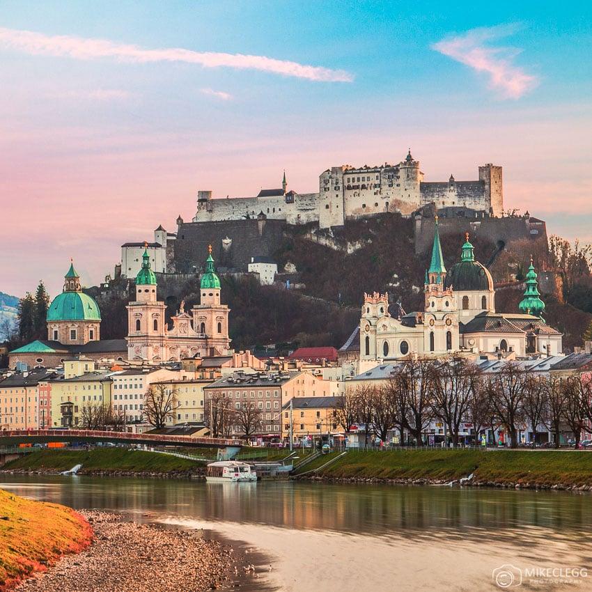 Salzburg from the Salzach River