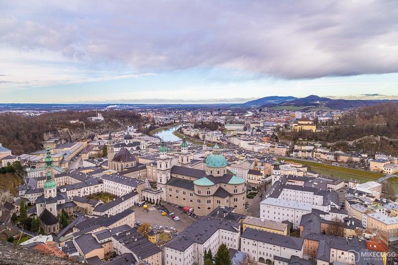 Skyline views from Hohensalzburg Castle in Salzburg