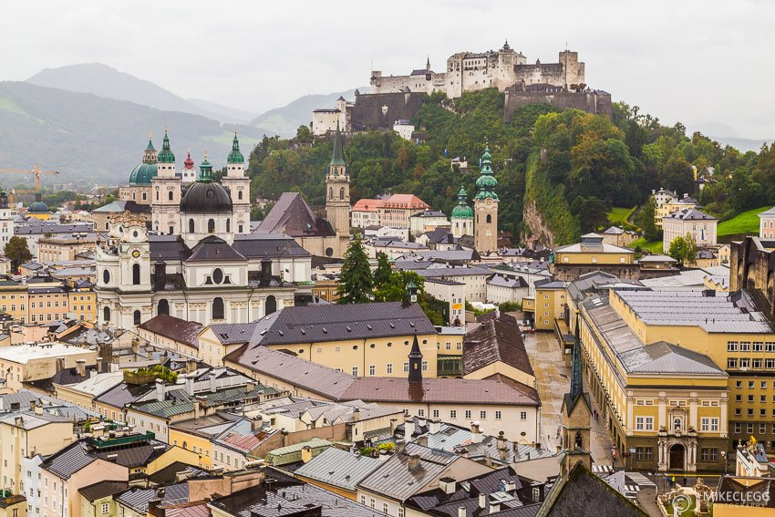View over Salzburg from Museum der Moderne