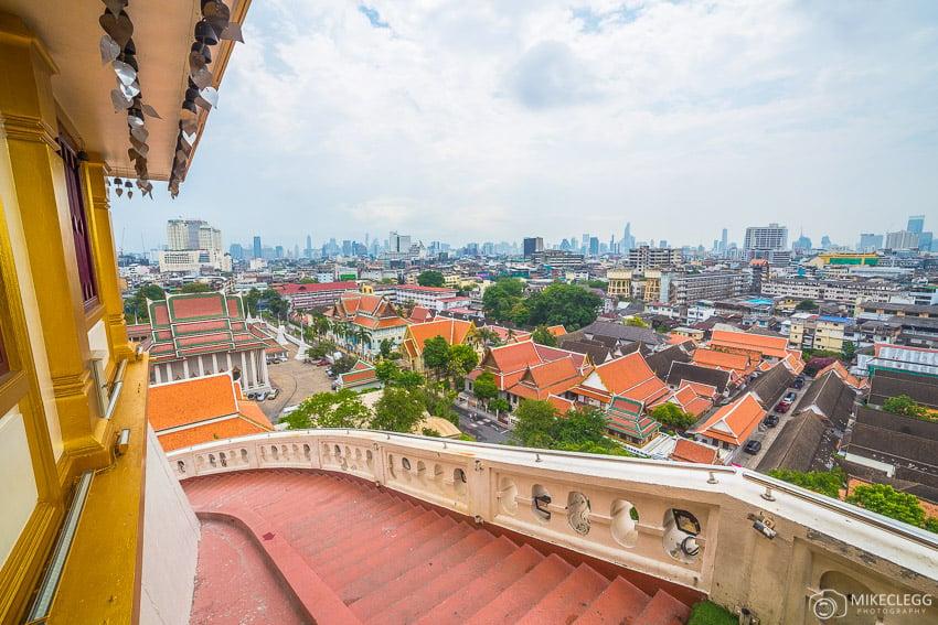 Wat Saket, Golden Mount and the Bangkok skyline