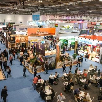 World Travel Market London high view