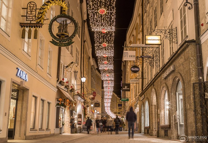Getreidegasse, Salzburg at Christmas