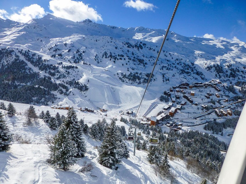Merible ski resort, France