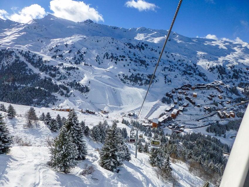Meribel ski resort, France