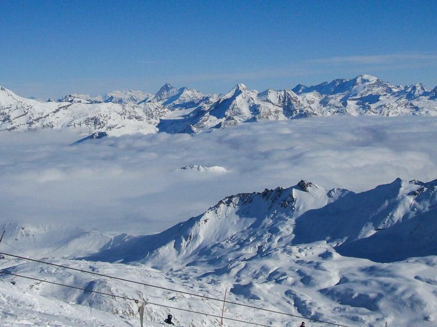 Mountain views from Tignes Ski resort