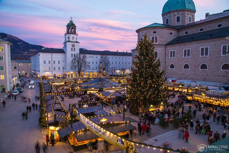 Salzburg Christmas Market at night