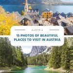 15 Photos of Beautiful Places to Visit in Austria