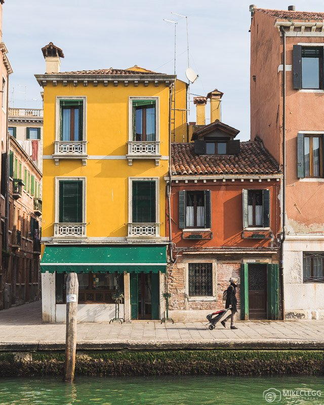 Architecture along Fondamenta Cannaregio in Venice