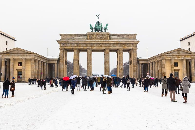 Brandenburg Gate in the winter