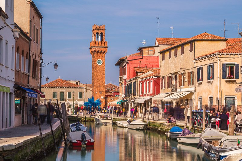 Canals of Murano, Italy
