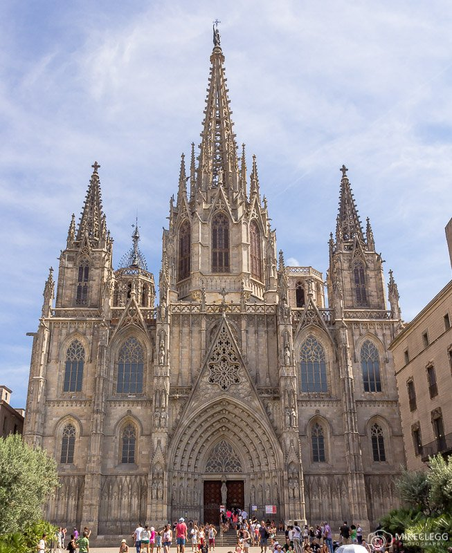 Front of the Cathedral of Barcelona