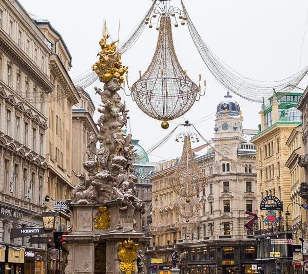 Graben in Vienna, Winter