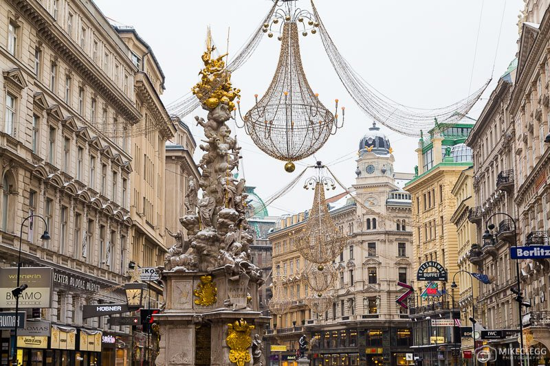 Graben in Vienna, Winter