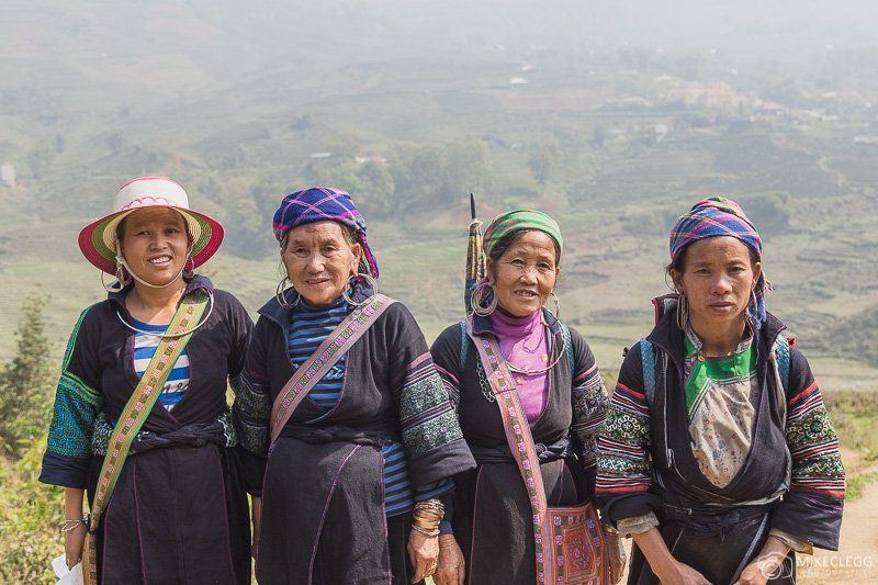 Group of local tribe ladies in Sapa