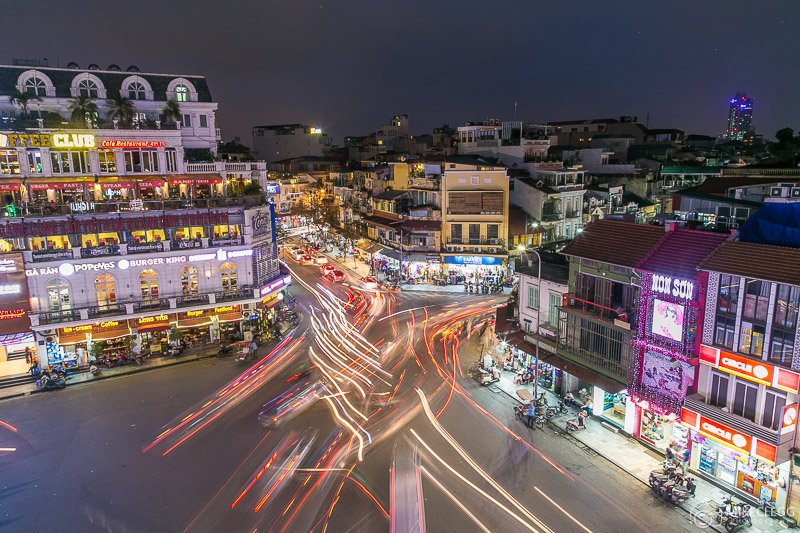 Hanoi Traffic - Night view