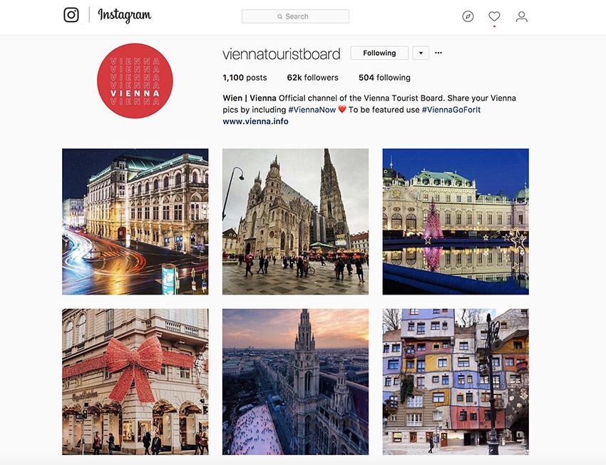 Local Tourist Board Instagram Account