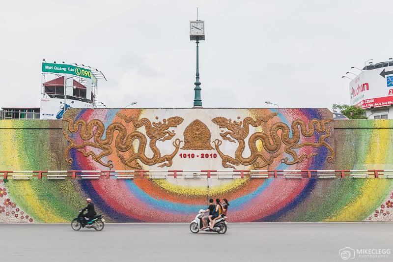 Mosaic along Yen Phu