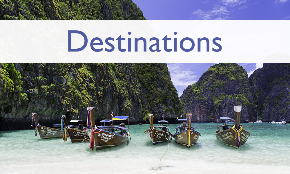 Page headers - Destinations