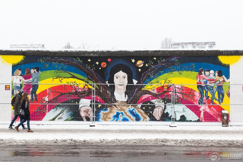 Part of the East Side Gallery in Berlin