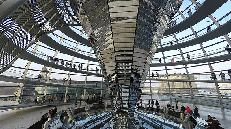 Reichstag Building interior, Berlin - via Pixabay