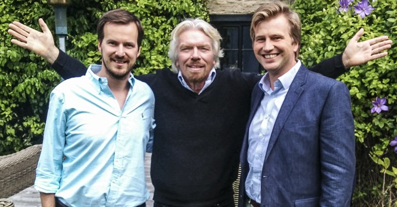 Sir Richard Branson with Taavet and Kristo