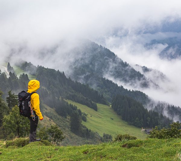 Solo Traveller and mountains in Europe