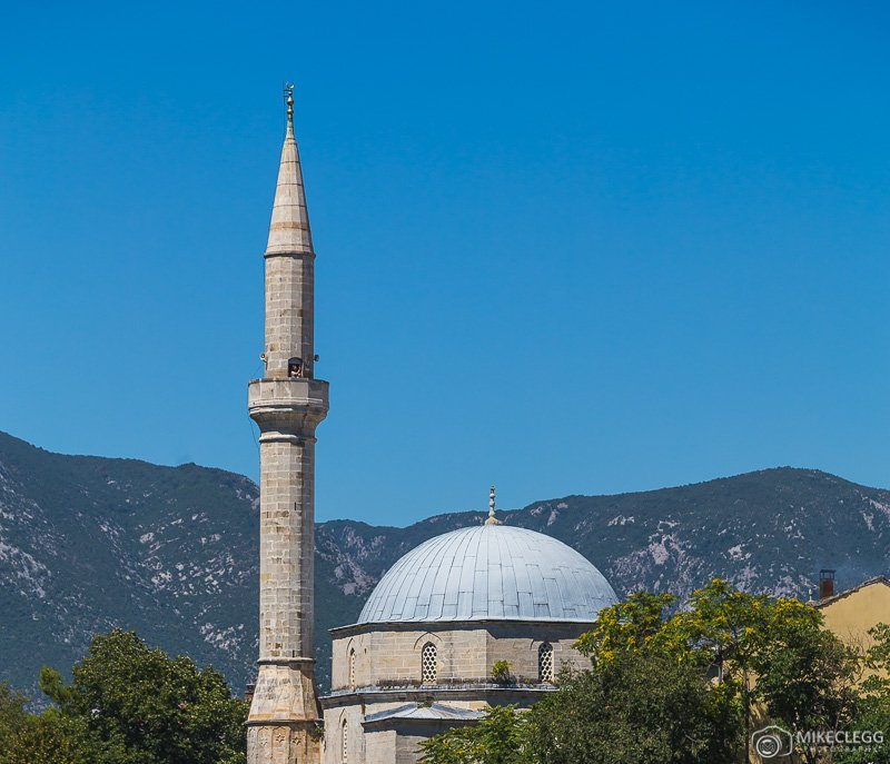 Someone taking photographs from Koski Mehmed Pasha Mosque Minaret