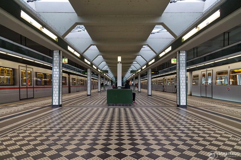 Subway station in Vienna