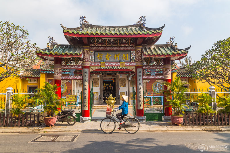 Temples and locals in Hoi An, Vietnam