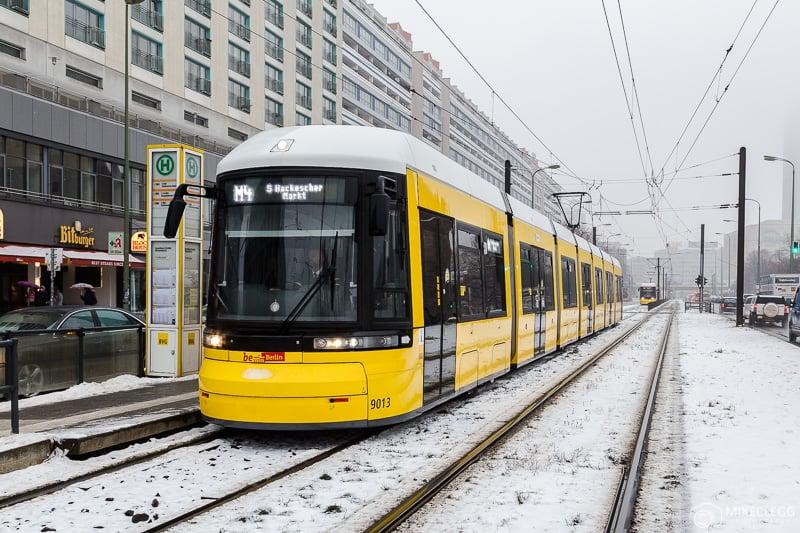 Trams in Berlin, Winter