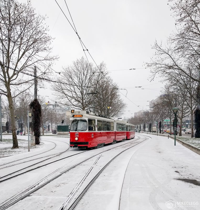 Trams in Vienna, Winter
