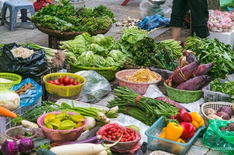 Street markets in Hanoi